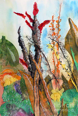 Painting - Ocotillo Collage by Pamela Shearer