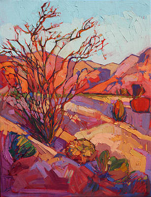 Painting - Ocotillo Shadows by Erin Hanson