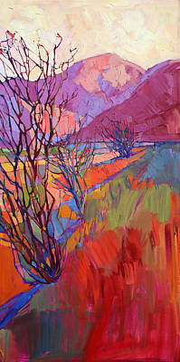 National Park Painting - Ocotillo Triptych - Right Panel by Erin Hanson