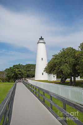 Ocracoke Lighthouse Art Print by Kay Pickens
