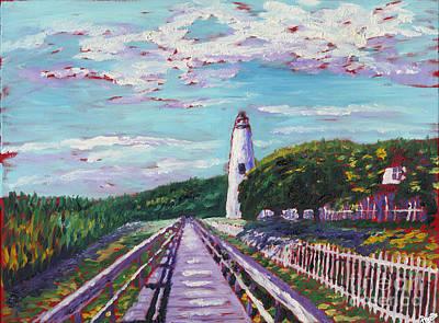 Nag Painting - Ocracoke Lighthouse by Preston Sandlin