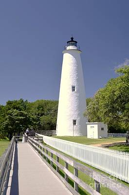 Photograph - Ocraoke Island Light by Allen Beatty