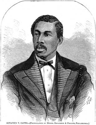 Civil Rights Painting - Octavius Catto (1839-1871) by Granger