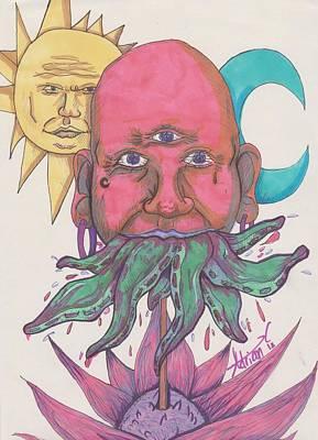 Eyes Drawing - Octo by Adrian  Casanova
