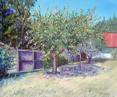 Painting - October Apples by Asha Carolyn Young