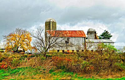 October Barn Paint Art Print