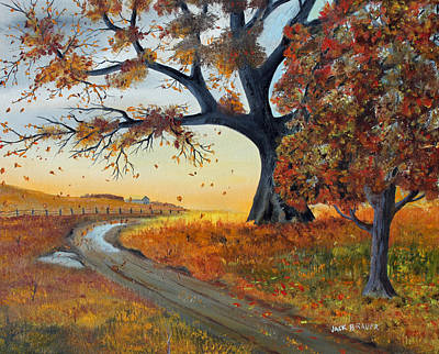 Painting - October Breeze by Jack G  Brauer