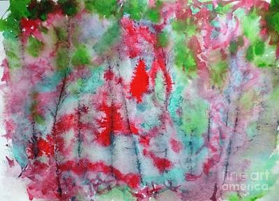 Painting - October Burst by Laura Hamill