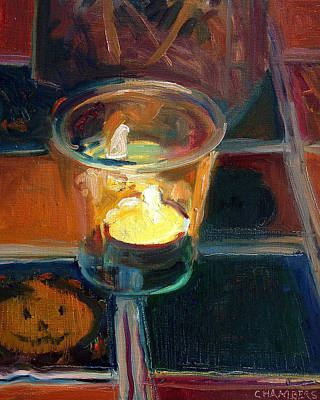 Painting - October Candlelight by Timothy Chambers