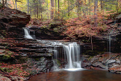 Photograph - October Evening Below R B Ricketts Falls by Gene Walls
