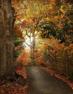 Autumn Landscape Digital Art - October Finale by Jessica Jenney