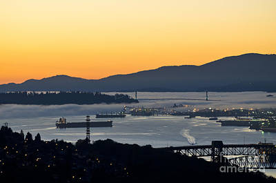 Photograph - October Fog Enters Vancouver by Maria Janicki