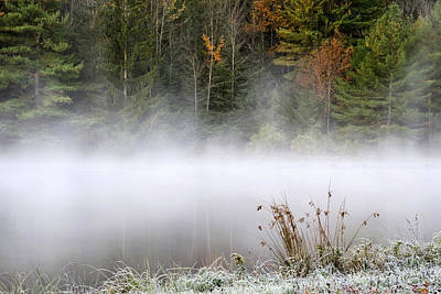 Photograph - October Frost Landscape by Christina Rollo