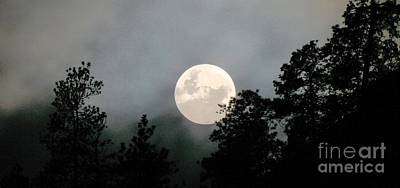 October Full Moon Iv Art Print by Phil Dionne