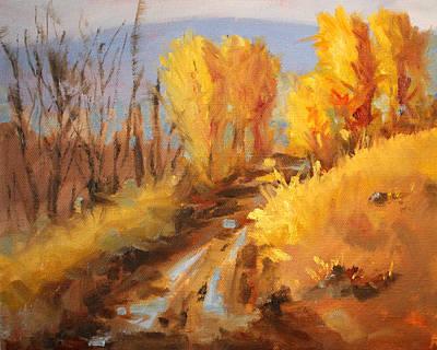 Sunriver Painting - October Hill by Nancy Merkle