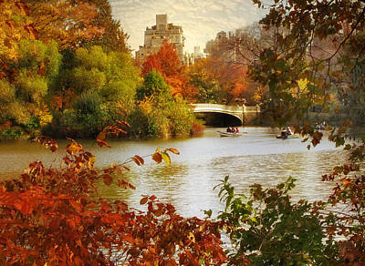 October In Central Park Art Print by Jessica Jenney