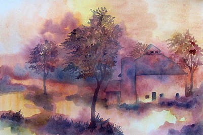 October Art Print by James Huntley