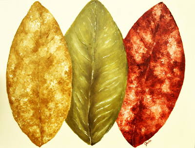 Carter.oil Painting - October Leaves by Jennifer Carter