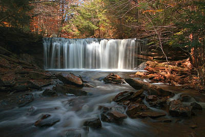Photograph - October Morning At Oneida Falls by Gene Walls