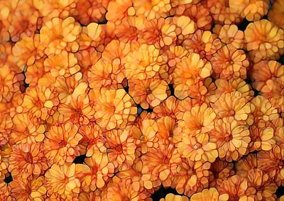Gardener Mixed Media - October Mums by Dan Sproul
