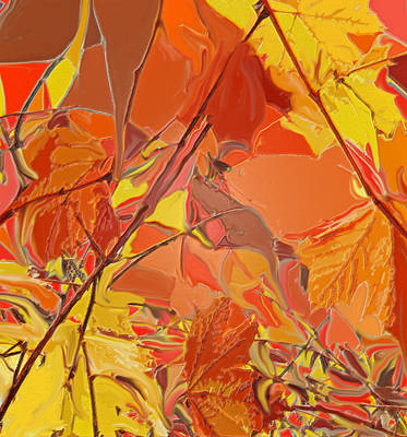 Digital Art - October On Fire by Ian  MacDonald
