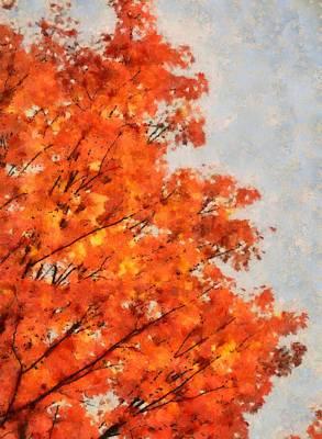 Comfort Painting - October Orange by Dan Sproul