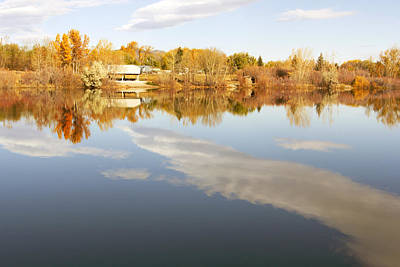 Photograph - October Reflections by Dana Moyer