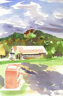 Scenic Vistas Painting - October Shadows At Fort Davidson by Kip DeVore
