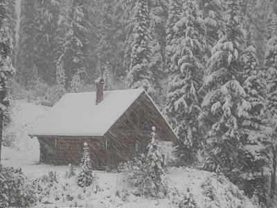 Photograph - October Snowfall  --  British Columbia  by Brian Hoover