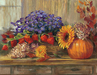 Pumpkin Painting - October Still Life by Carol Rowan