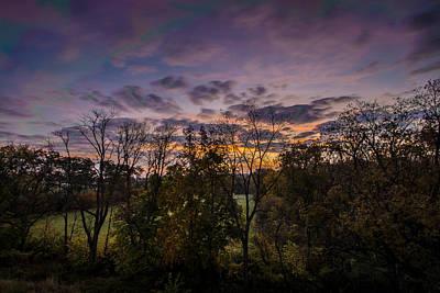 October Sunrise Art Print by Randy Scherkenbach