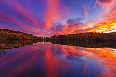 Laurentians Photograph - October Sunset by Mircea Costina Photography