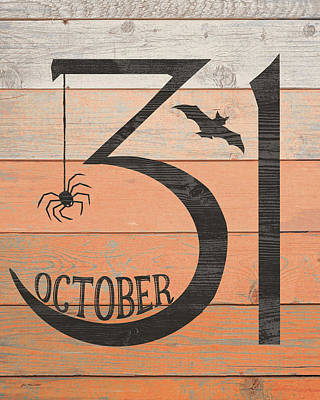 Halloween Sign Painting - October Thirty First by Jo Moulton