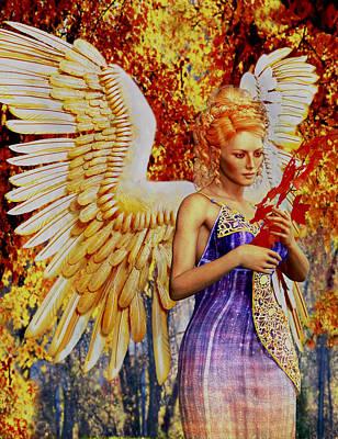 October's Angel Art Print by Suzanne Silvir