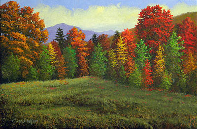 Autumn Scenes Painting - Octobers Ending by Frank Wilson