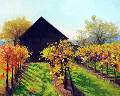 Napa Painting - October's Golden Glow by Armand Cabrera