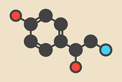 Octopamine Stimulant Drug Molecule Art Print