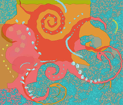 Painting - Octopus 1 by David Klaboe