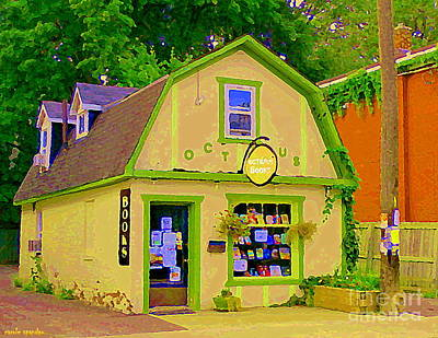 Painting - Octopus Bookstore 3rd Ave Bank Street Nepean The Glebe Paintings Of Ottawa Carole Spandau  by Carole Spandau