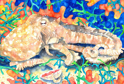 Painting - Octopus Delight by Pauline Walsh Jacobson