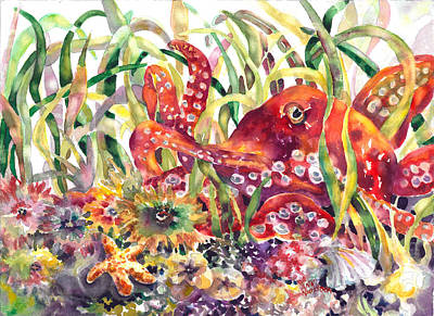 Painting - Octopus Garden by Ann  Nicholson