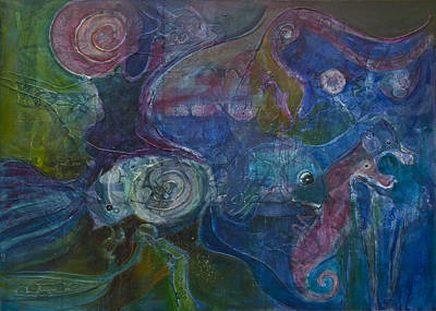 Painting - Octopus Garden by Jillian Goldberg