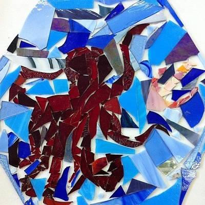 Octopus Wall Art - Photograph - #octopus #glass #artproject #art by Sarah Schlender