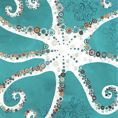 Octopus Art Print by Jennifer Peck