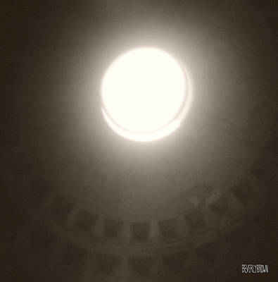 Art Roman Photograph - Oculus Pantheon by Beverly Brown