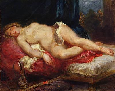 Odalisque Art Print by Ferdinand Victor Eugene Delacroix