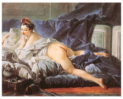 Partial Nude Painting - Odalisque by Francois Boucher
