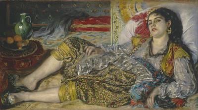 Orientalist Painting - Odalisque by Pierre Auguste Renoir