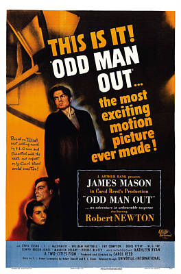 Kathleen Photograph - Odd Man Out, Us Poster Art, From Left by Everett