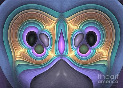 Digital Art - Odd Owl - Surrealism by Sipo Liimatainen